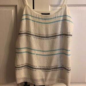WHBM Sequin Strappy Camisole NWOT